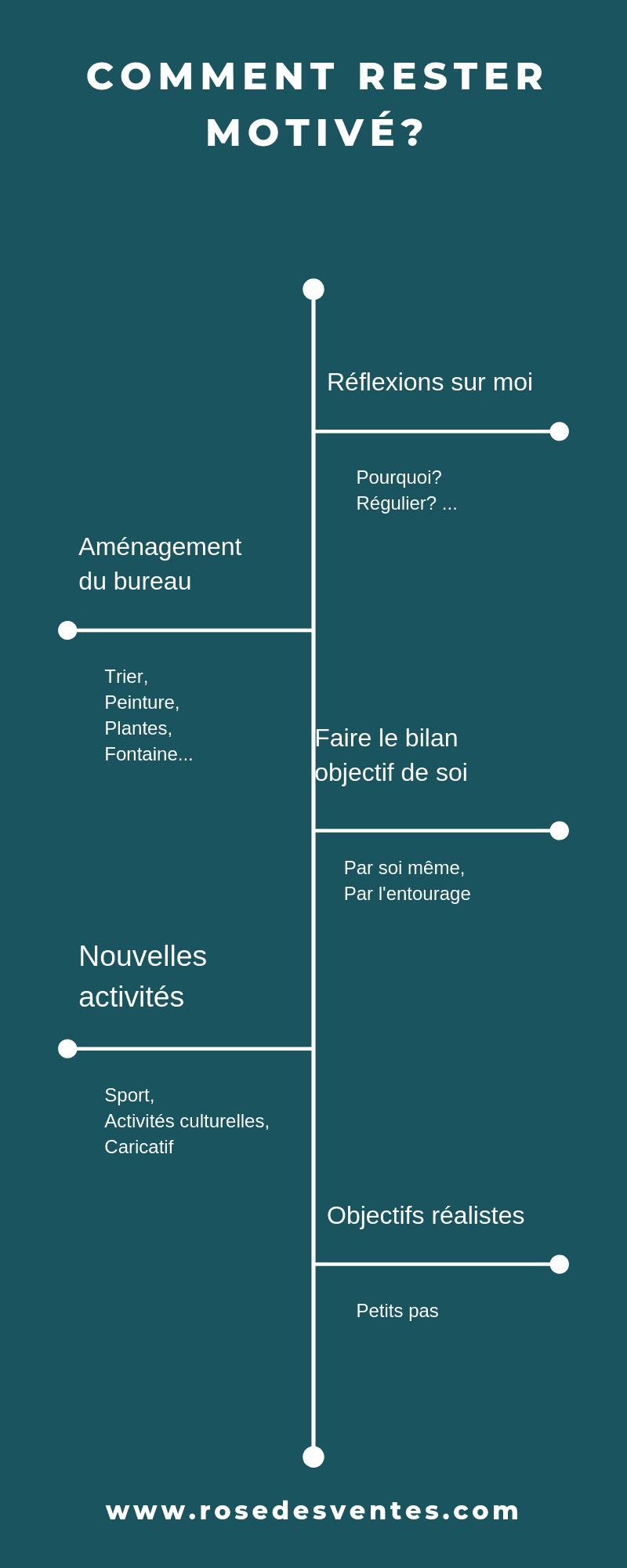 Infographie motivation La Rose Des Ventes