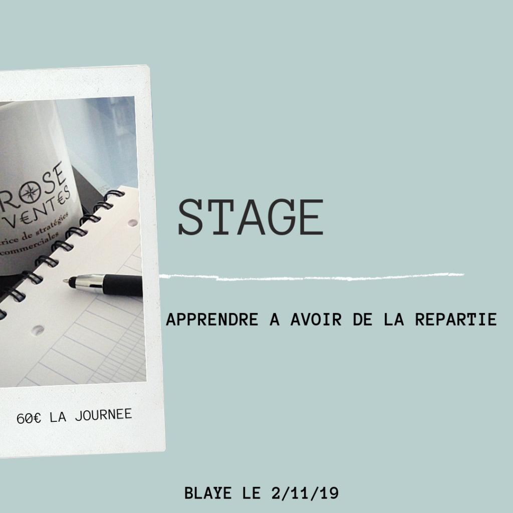 Stage répartie à Blaye